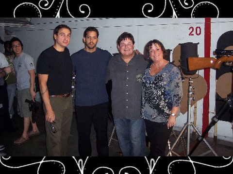 Carl and Tina Skenes with David Blaine